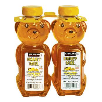 Kirkland Signature 100% Pure Liquid Honey, 2 × 750 g