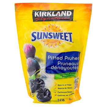 Kirkland Signature Sunsweet California Grown Pitted Prunes, 1.6 kg