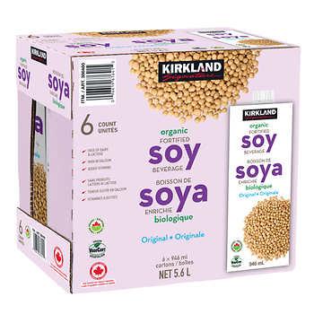 Kirkland Signature Organic Soy Beverage, 6 × 946 mL