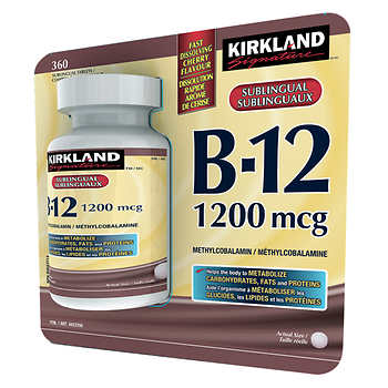 Kirkland Signature Vitamin B12, 360 Tablets