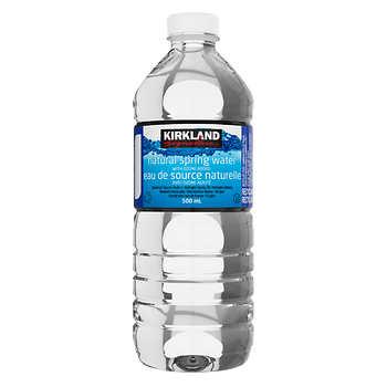 Kirkland Signature Natural Spring Water, 40 × 500 mL