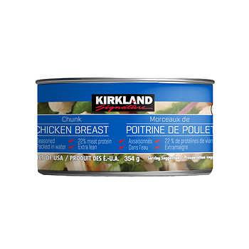 Kirkland Signature Canned Chicken, 6 × 354 g