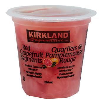 Kirkland Signature Red Grapefruit Segments, 12 × 226 mL