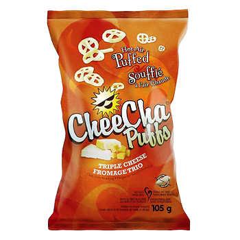CheeCha Puffs Triple-cheese Chips, 16 × 20 g (0.71 oz)