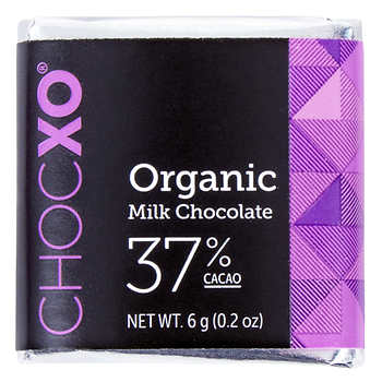 ChocXO 37% Organic Milk Chocolate Squares, 150 × 6 g (0.2 oz)
