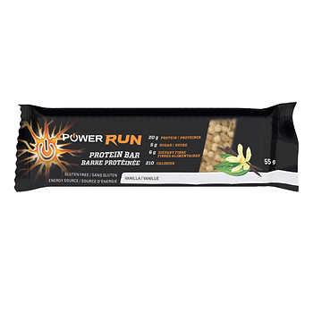 Power Run Energy Vanilla Protein Bars, 12 × 55 g (1.9 oz)