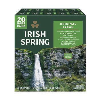 Irish Spring Deodorant Soap, 113 g, Pack of 20