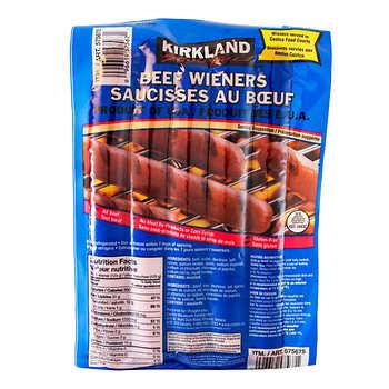 Kirkland Signature Beef Wieners, 1.72 kg