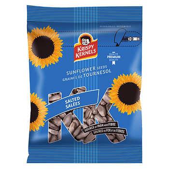 Krispy Kernels Salted Sunflower Seeds, In-shell, 24 × 227 g (8.01 oz)