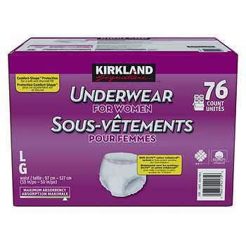 Kirkland Signature Underwear for Women, Large, Pack of 76