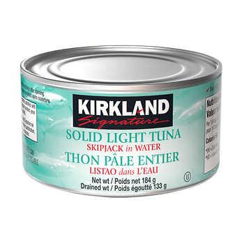 Kirkland Signature Solid Light Tuna in Water, 8 × 184 g