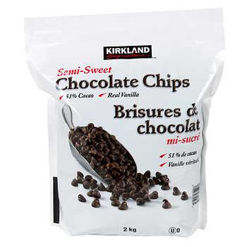 Kirkland Signature Semi-Sweet Chocolate Chips, 2 kg