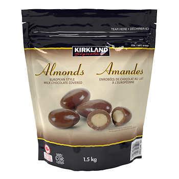 Kirkland Signature Chocolate Covered Almonds, 1.5 kg
