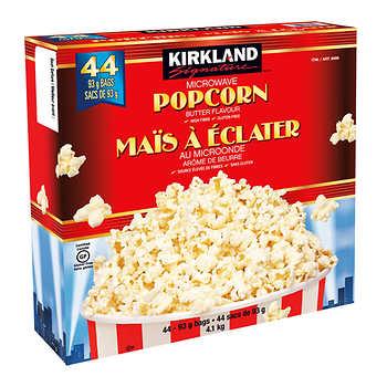 Kirkland Signature Microwave Popcorn Butter, 44 × 93 g (3.2 oz)