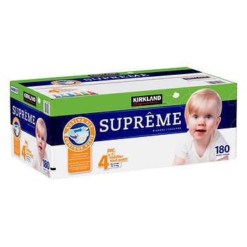 Kirkland Signature Diapers, Size 4, Pack of 180