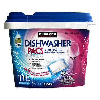 Kirkland Signature Dishwasher Pacs, Pack of 115