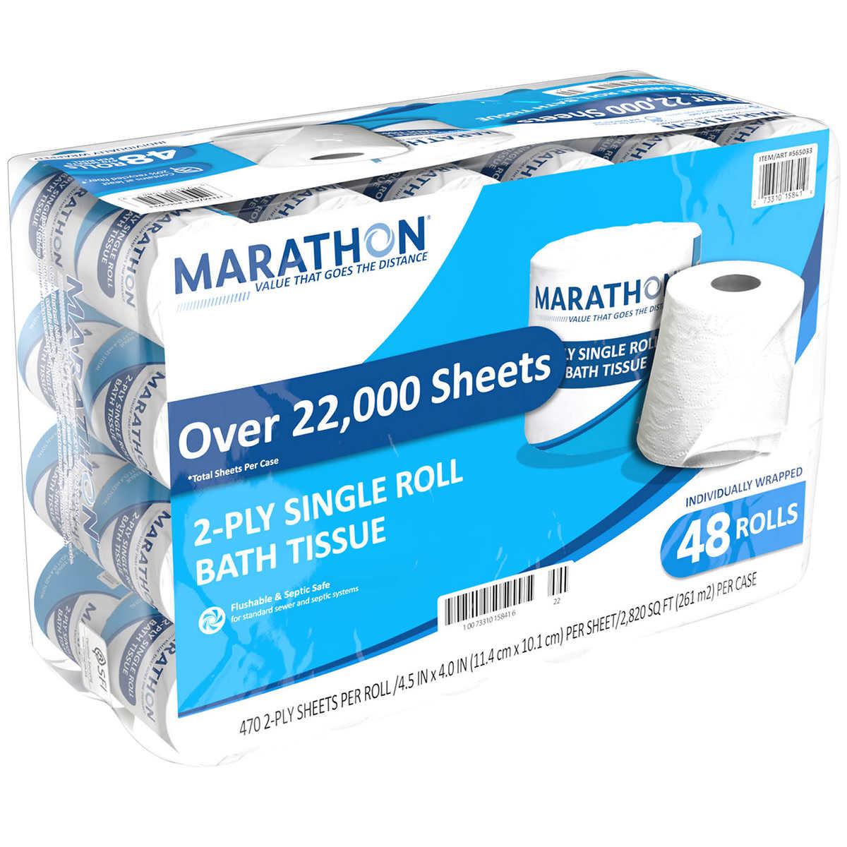 georgia-pacific marathon embossed bathroom tissue, 48 ct (1584114)