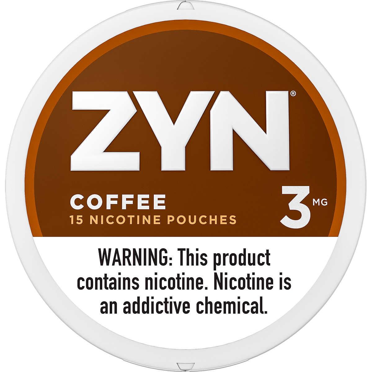 Zyn Snus Pouches, Coffee 03 mg, 15 Pouches, 5 ct