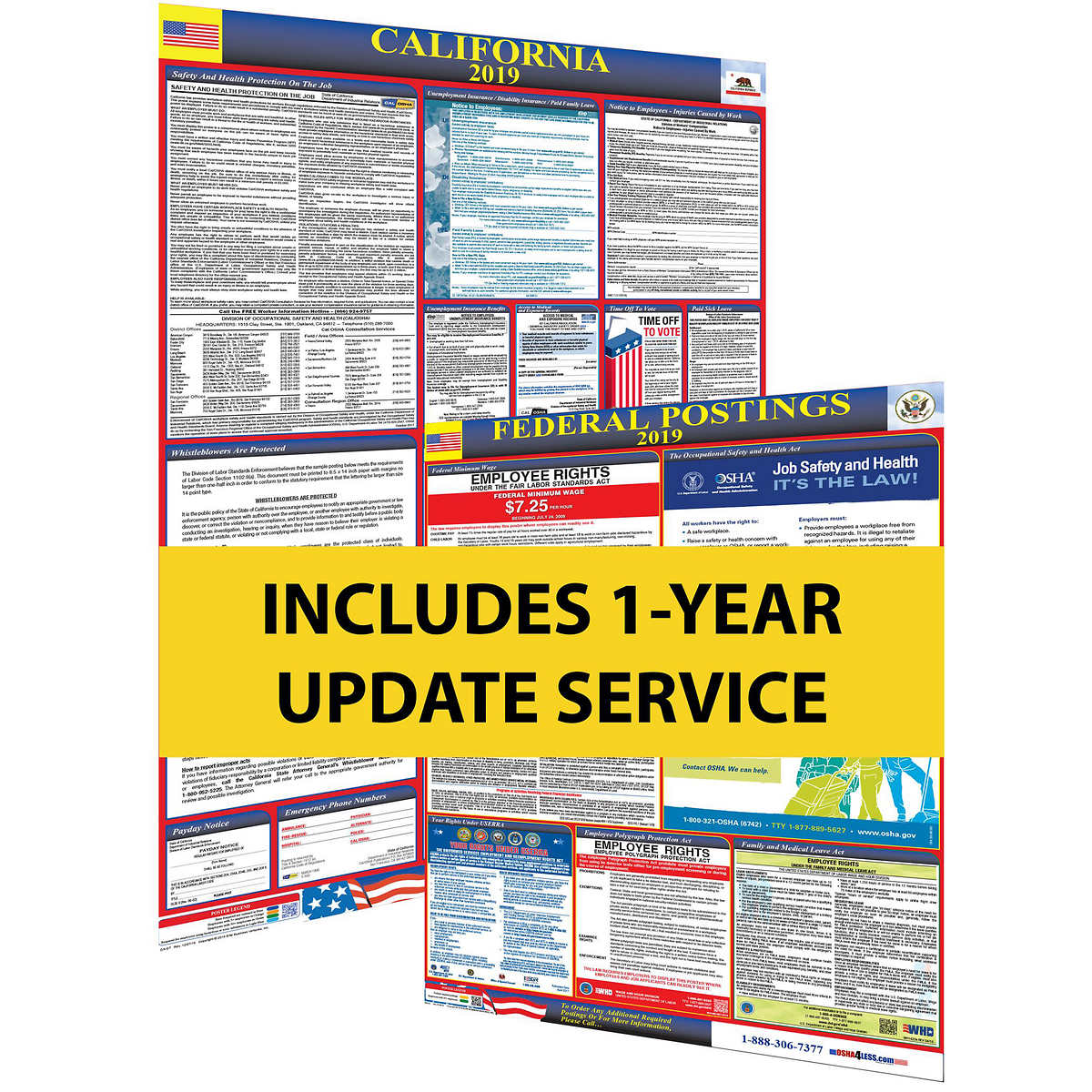 Osha4less 2019 California State & Federal Labor Law Posters