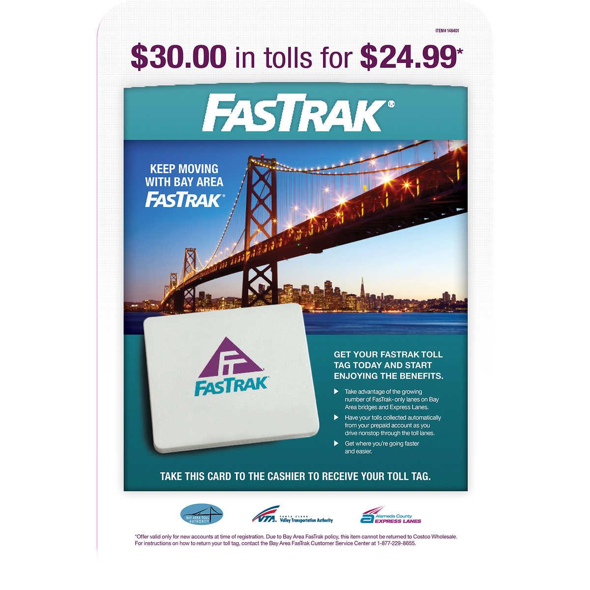 FasTrak Toll Tag, $24 99