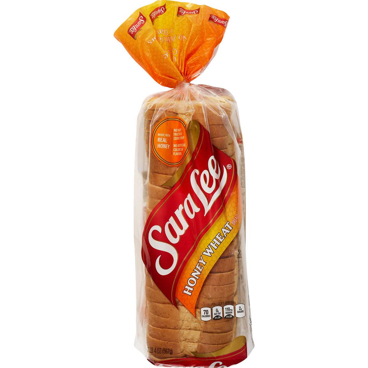 Sara Lee Honey Wheat Bread, 20 oz loaf