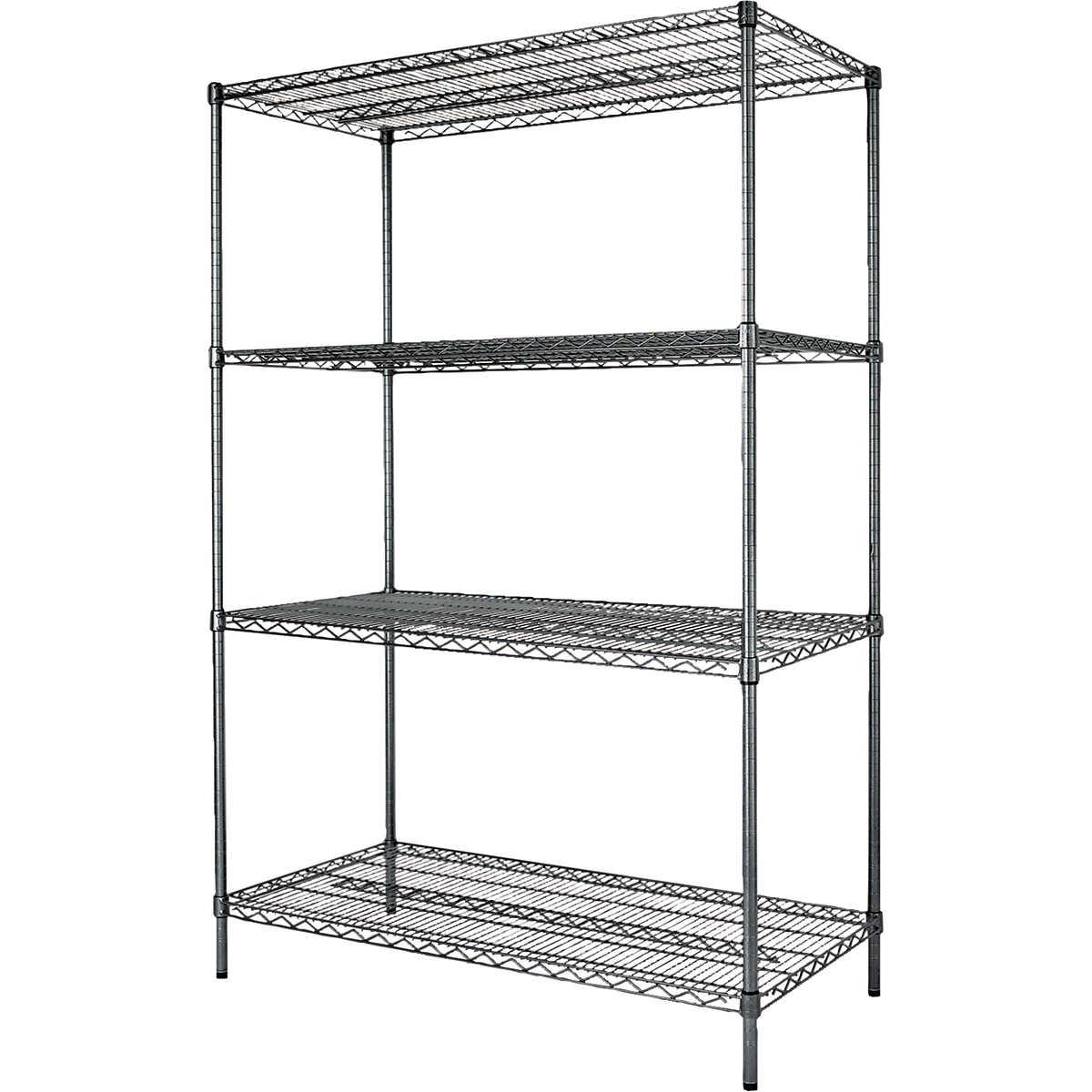 Alera 4-Shelf Industrial Wire Shelving Unit, 48\