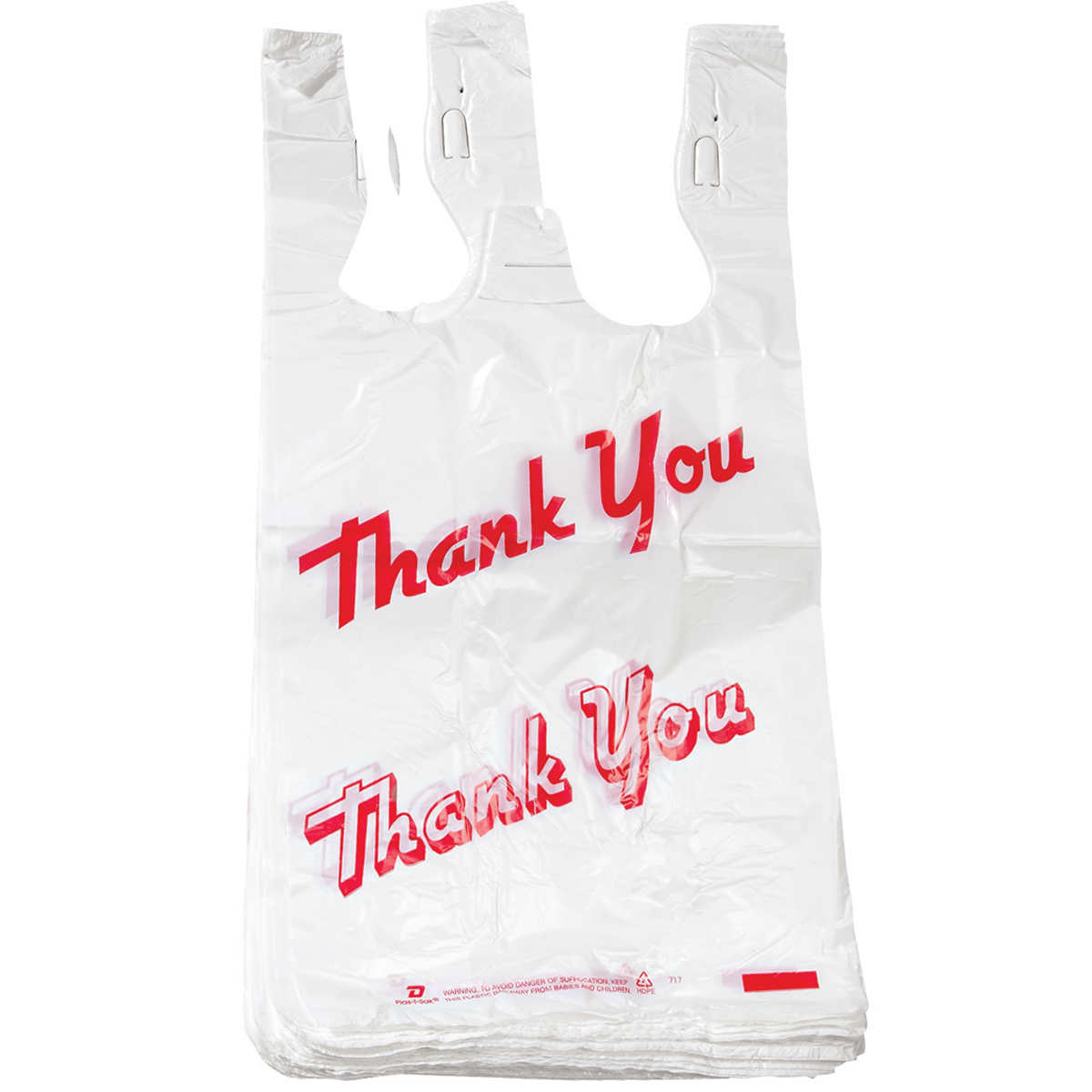 Black t shirt carryout bags - T Shirt Thank You Bag 1000 Ct