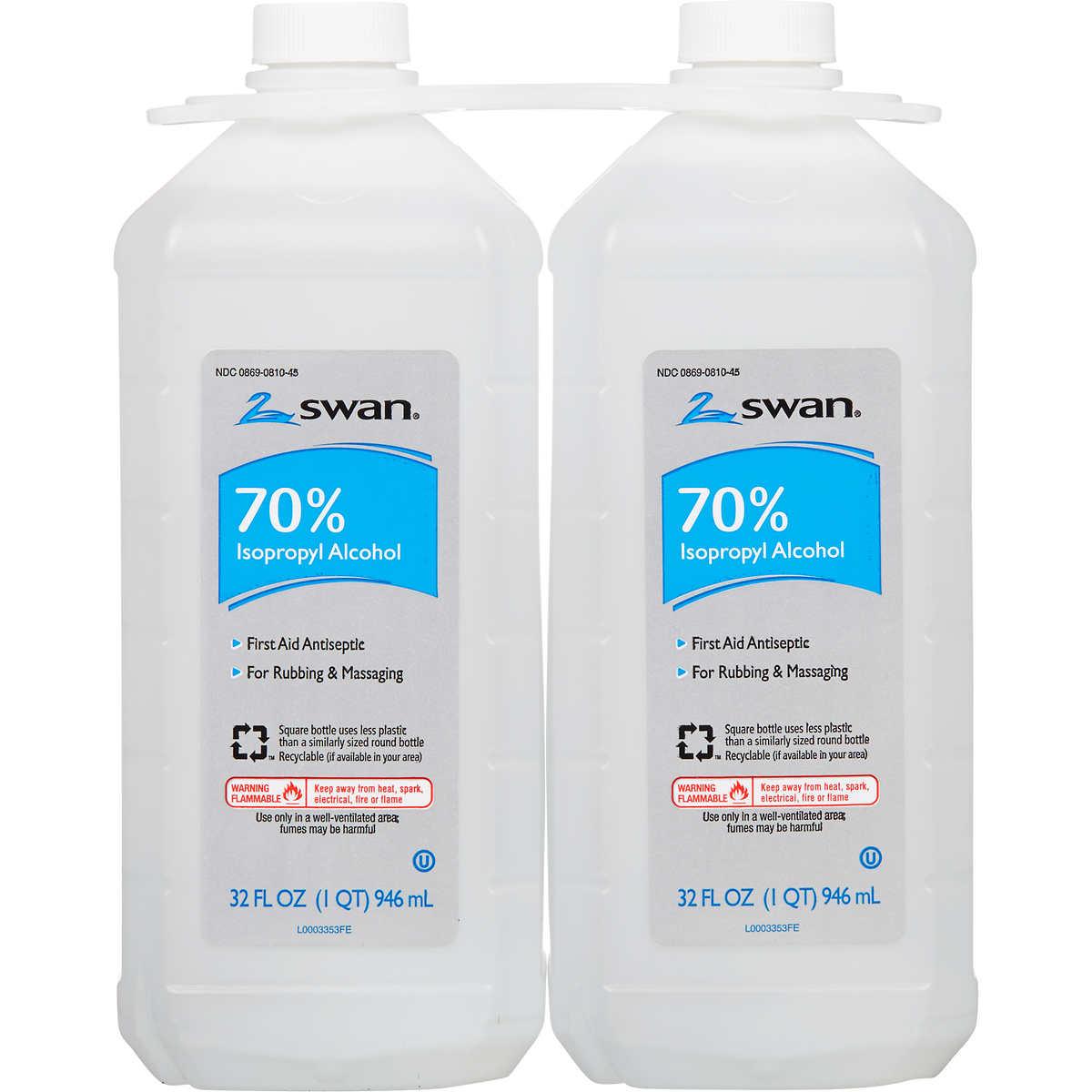 Cumberland Swan 70% Isopropyl Alcohol, 32 oz, 2 ct
