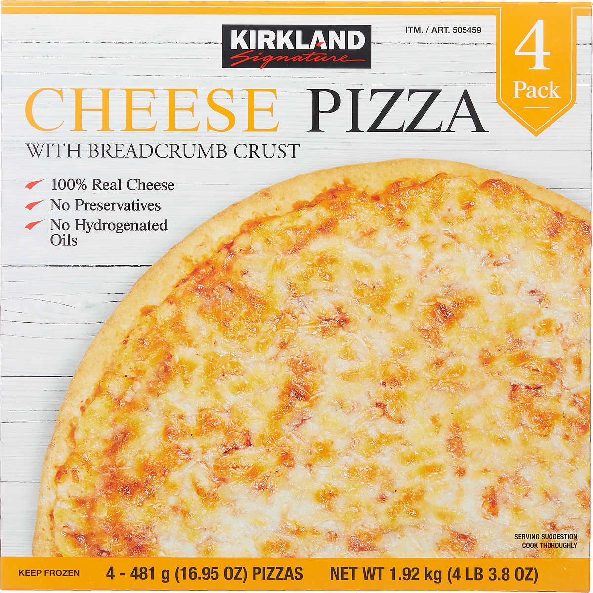 How To Make A Frozen Pizza Kirkland Signature 105 Pizza Cheese 4 Ct