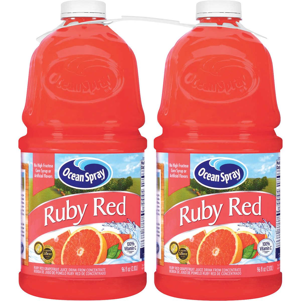 Ocean Spray Ruby Red Grapefruit Juice Drink, 96 oz, 2 ct