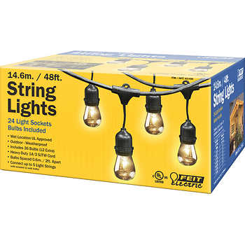 Feit 48 Outdoor String Lights with 24 Light Sockets