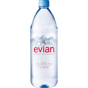 Evian Natural Spring Water 1 Liter 12 Ct