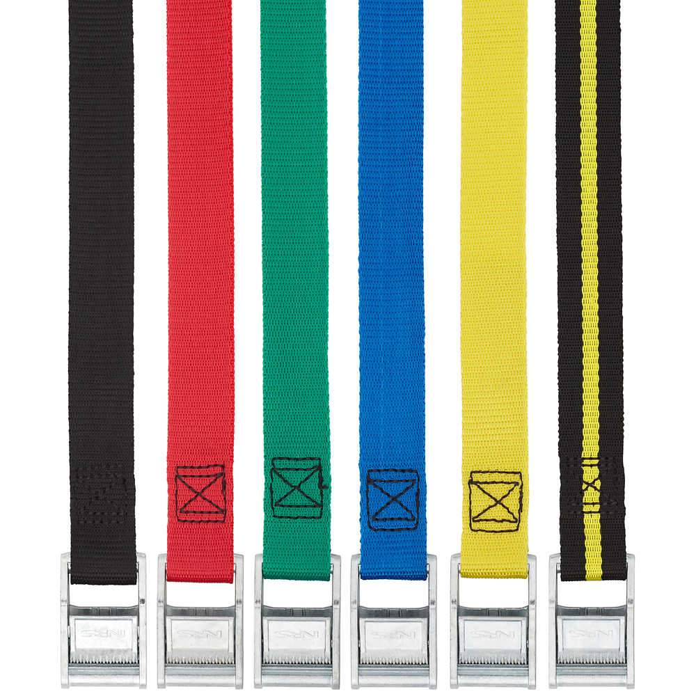 """NRS 1"""" Color Coded Tie-Down Straps"""