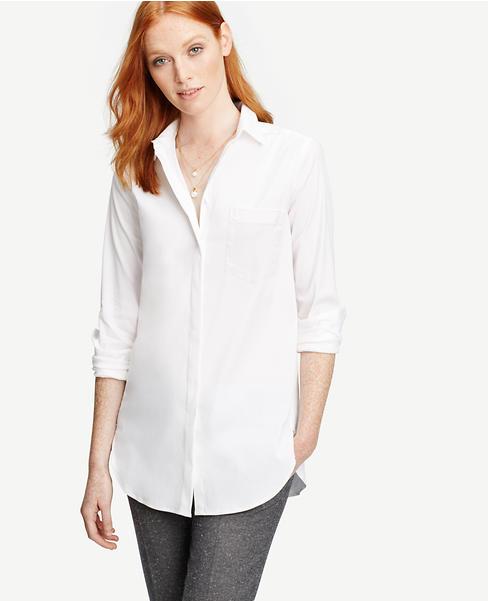 Petite Oversized Shirt | Ann Taylor