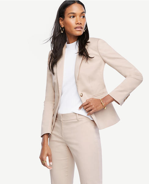 Primary Image of Cotton Sateen One Button Jacket