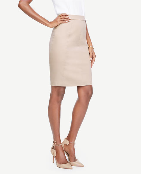 Primary Image of Cotton Sateen Pencil Skirt