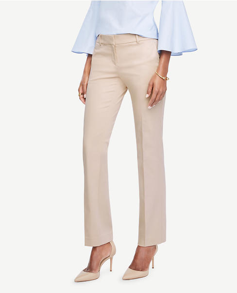 Primary Image of The Straight Leg Pant in Cotton Sateen - Kate Fit