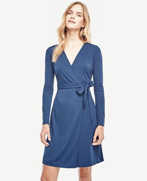 Matte Jersey Wrap Dress | Ann Taylor