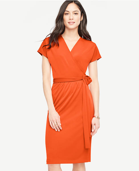 Primary Image of Short Dolman Sleeve Wrap Dress