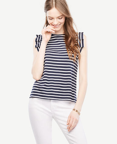 Thumbnail Image of Primary Image of Pleated Sleeveless Striped Top