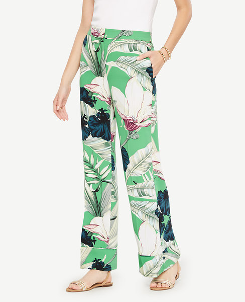 Palm Leaf Pajama Trousers at Ann Taylor in Victor, NY | Tuggl