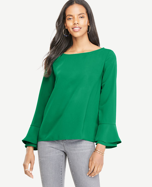 Boatneck Flare Cuff Blouse at Ann Taylor in Charleston, SC | Tuggl