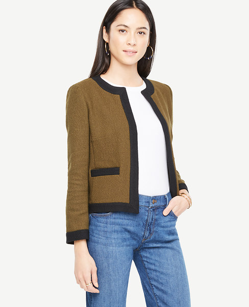 Tweed Open Jacket at Ann Taylor in Charleston, SC | Tuggl