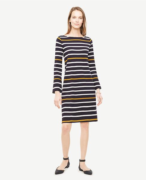 Thumbnail Image of Color Swatch 1246 Image of Striped Knit Shift Dress