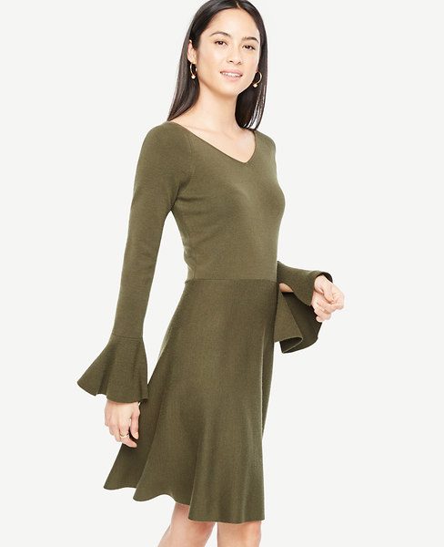 Double V Flare Sweater Dress at Ann Taylor in Charleston, SC | Tuggl