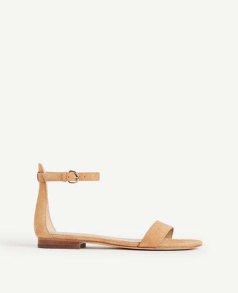 Brinley Suede Flat Sandals