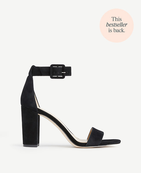 Leda Suede Block Heel Sandals
