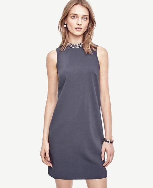 Crystal Collar Shift Dress