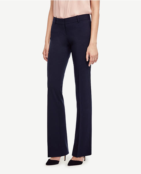 The Petite Trouser in Seasonless Stretch - Devin Fit