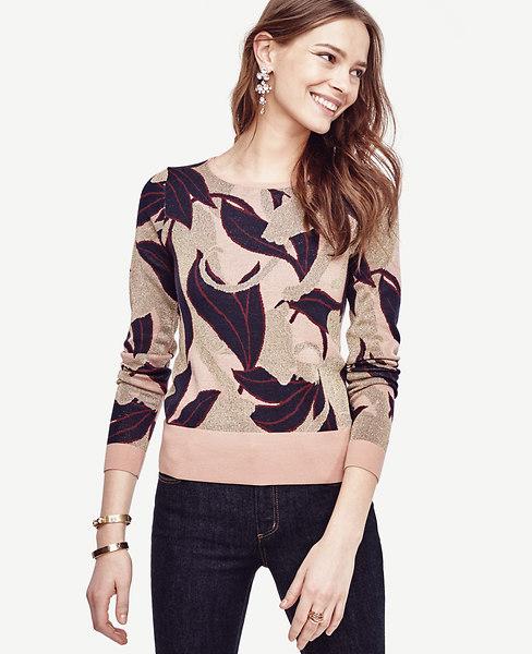 Abstract Jacquard Extrafine Merino Wool Sweater